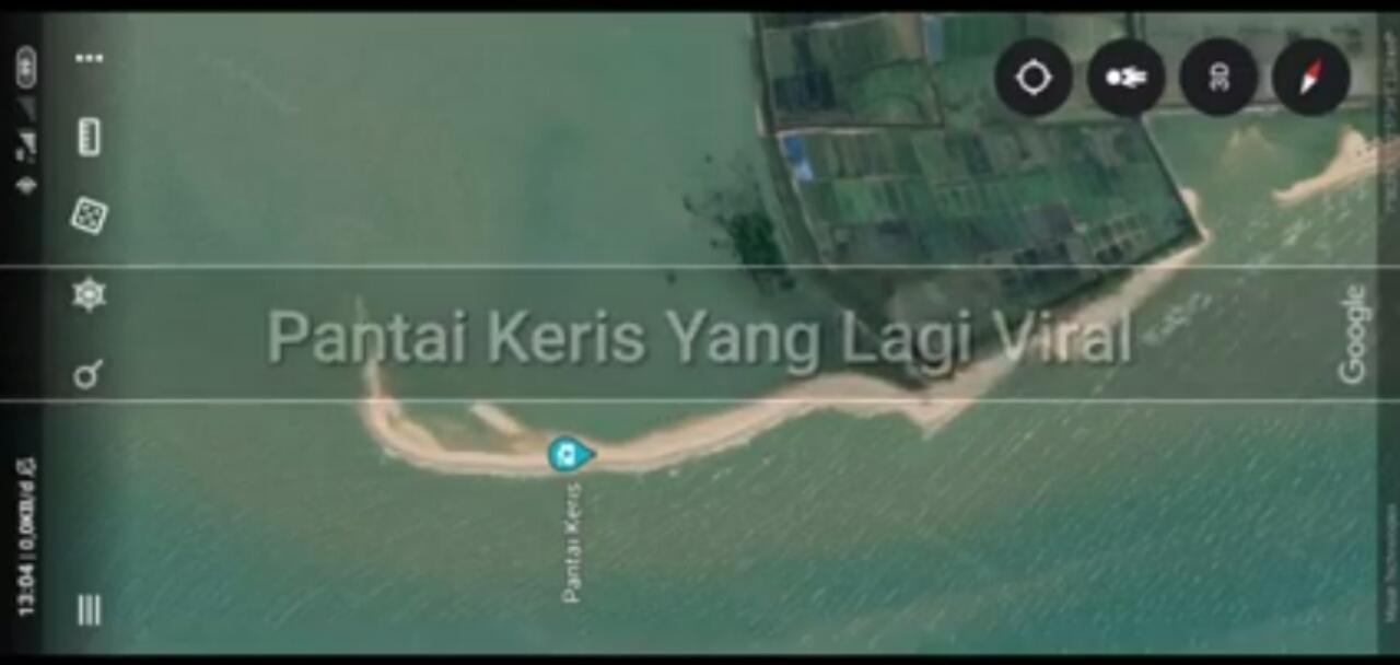 Peta Pantai yang berbentuk Keris
